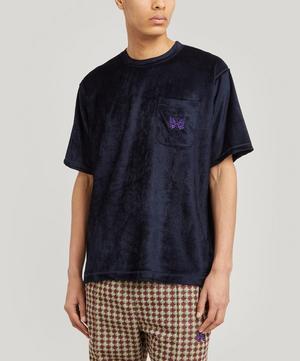 Papillon Logo-Embroidered Velour T-Shirt