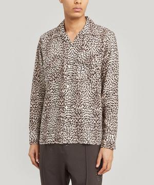 Leopard-Print Raw-Hem Shirt