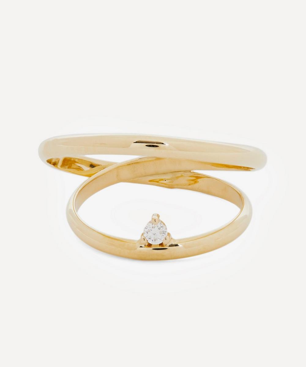 Mizuki - Gold Elipse Diamond Ring
