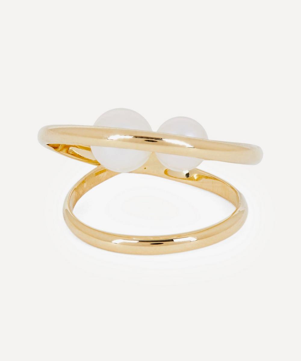 Mizuki - Gold Elipse Pearl Ring