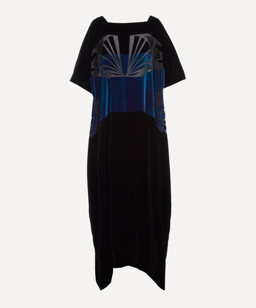 Charles and Patricia Lester - Velvet Kaftan Dress