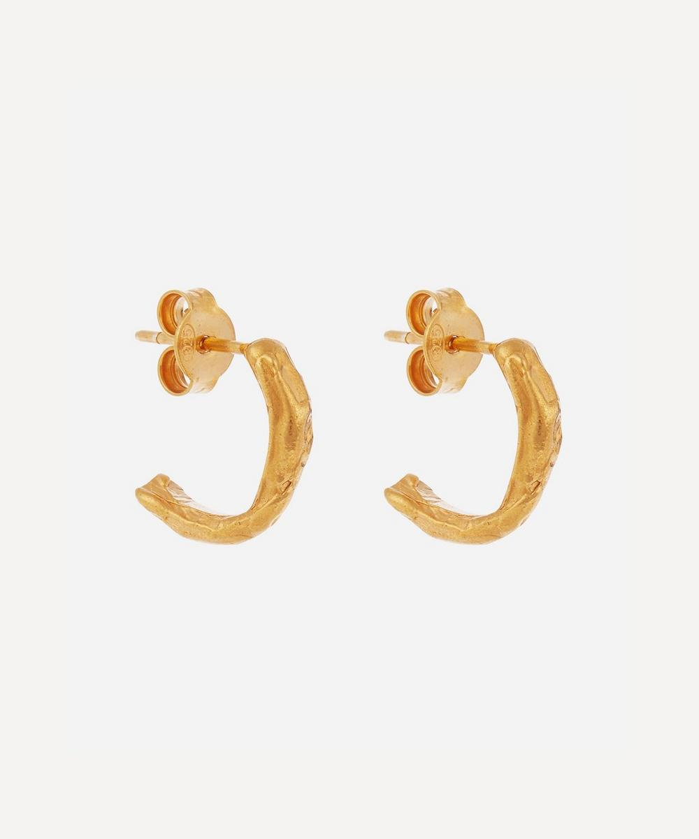 Alighieri - Gold-Plated The Silent Sun Hoop Earrings