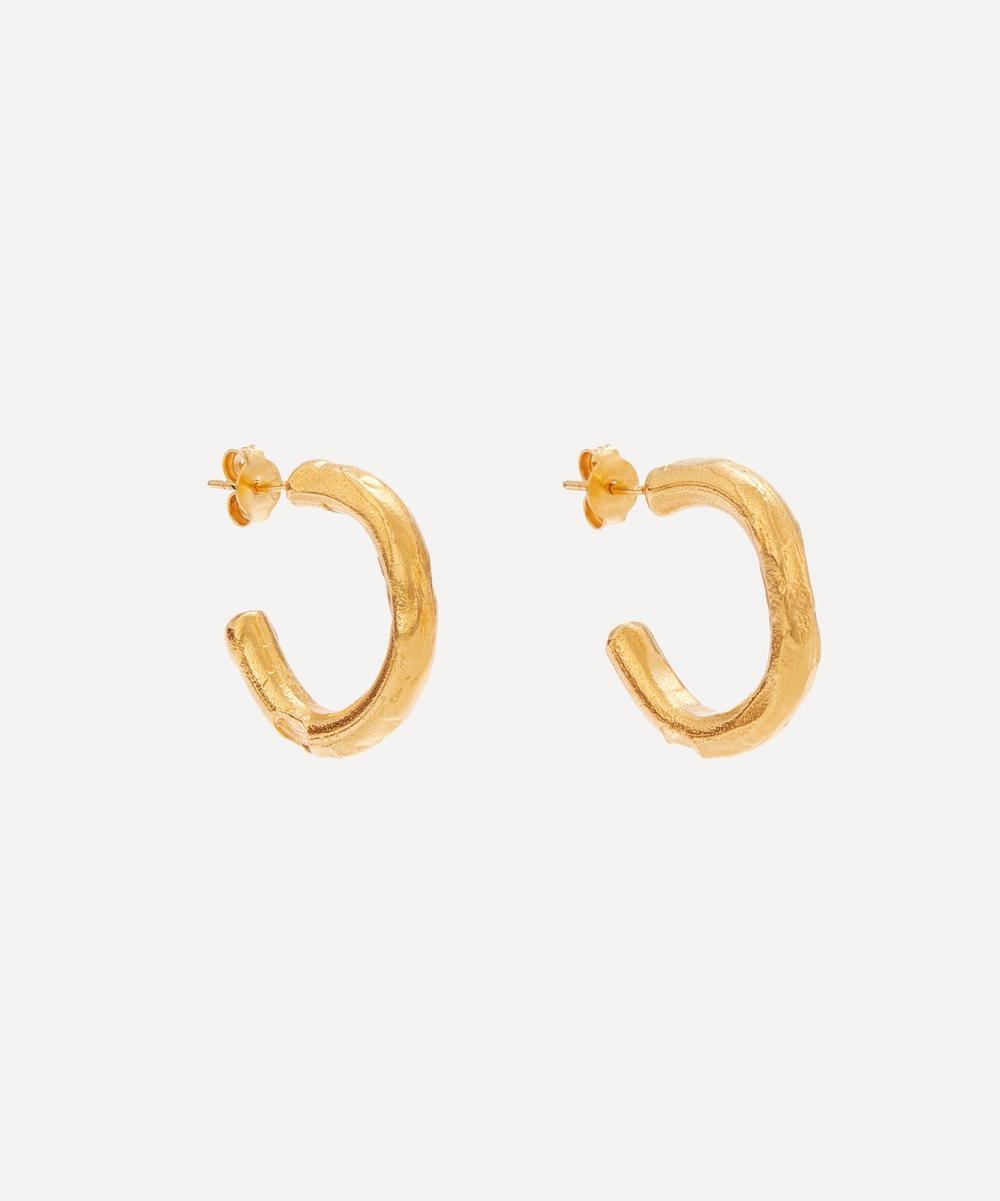 Alighieri - Gold-Plated The Etruscan Reminder Hoop Earrings