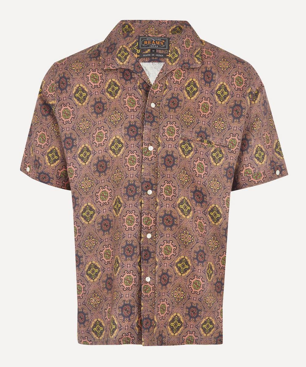 Beams Plus - Batik Print Open-Collar Shirt