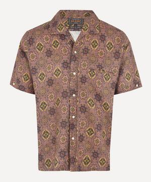 Batik Print Open-Collar Shirt