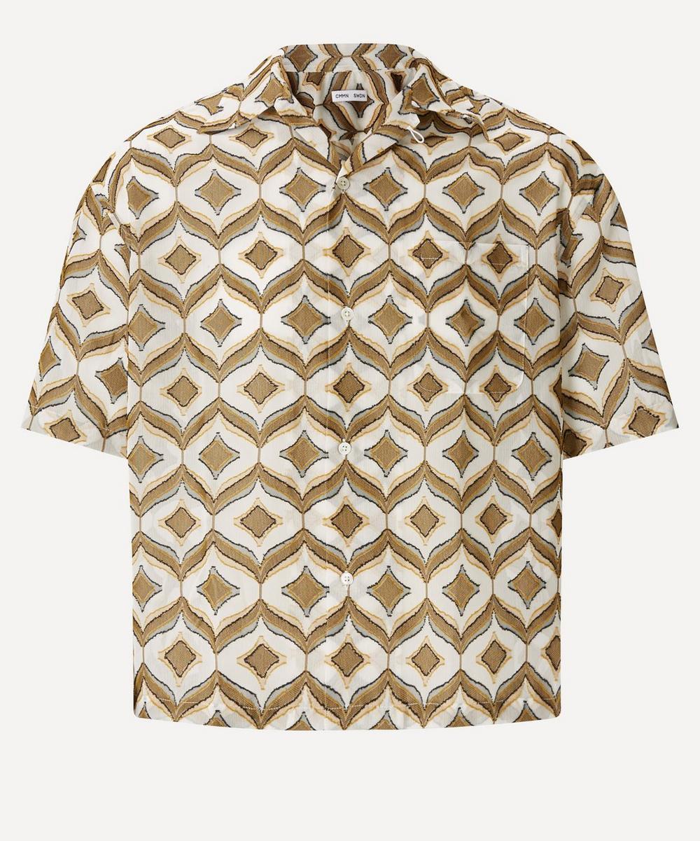 CMMN SWDN - Kim Camp Collar Jacquard Shirt