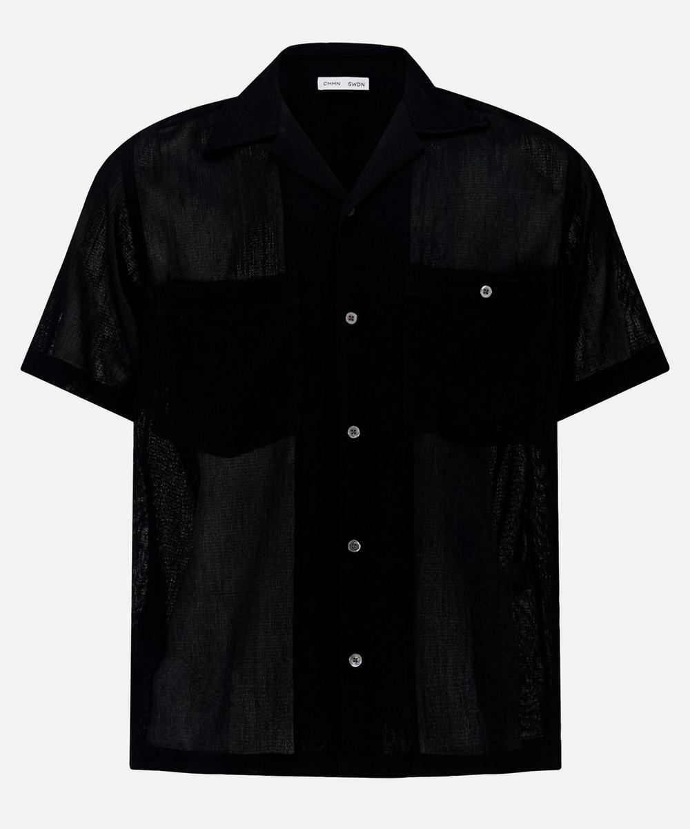 CMMN SWDN - Dexter Camp Collar Mesh Shirt