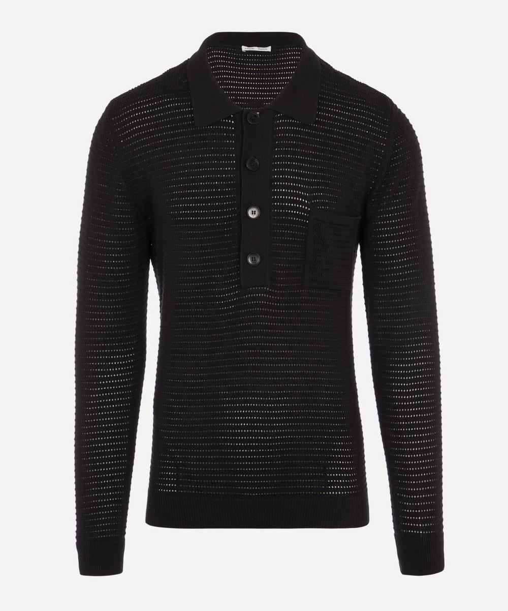 CMMN SWDN - Curtis Crochet Polo Shirt