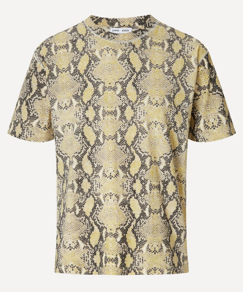 CMMN SWDN - Snake Print Cotton T-Shirt