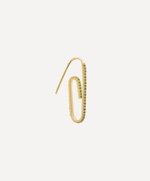 Gold-Plated The Classic Pavé Paperclip Earring
