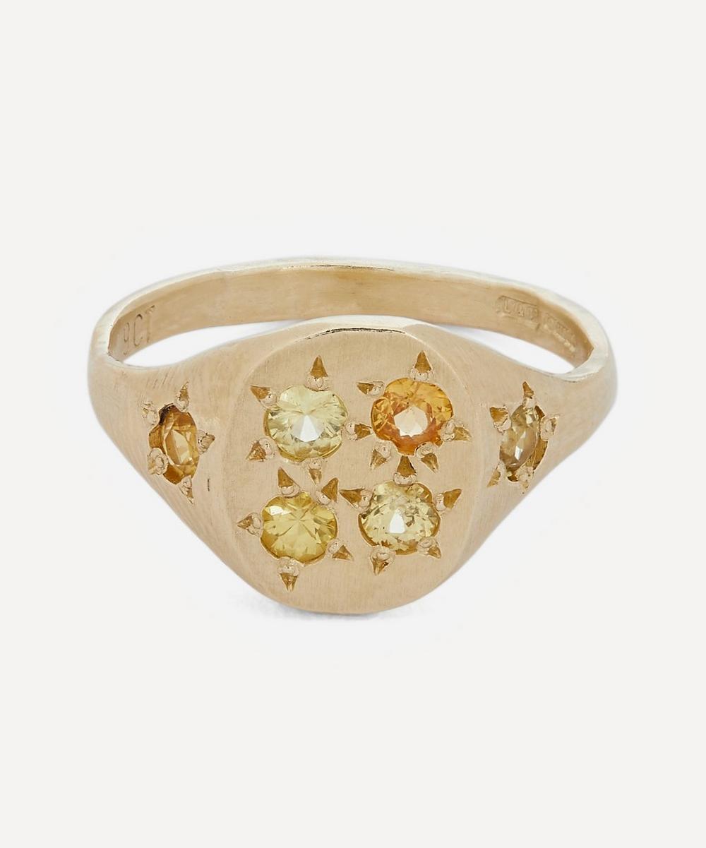 Seb Brown - Gold Neapolitan Yellow Multi-Stone Signet Ring