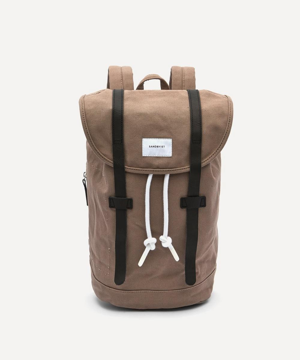 Sandqvist - Stig Double Strap Canvas Backpack