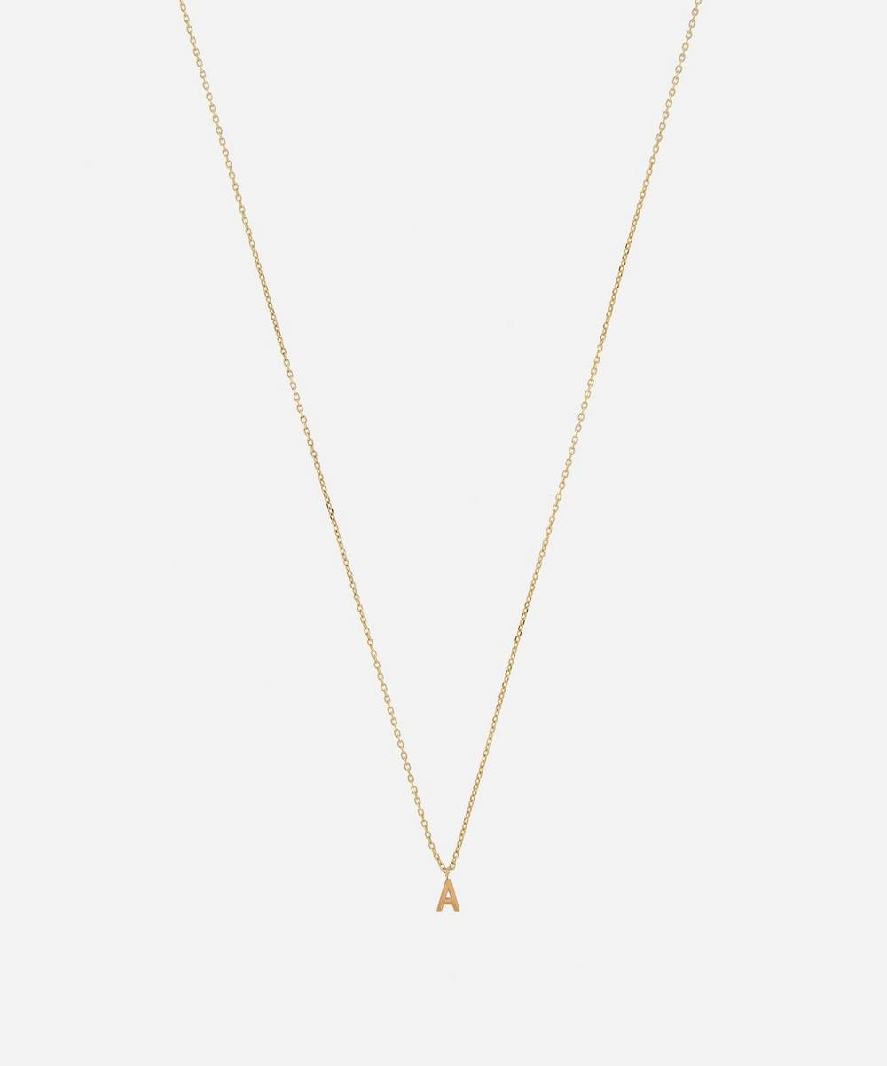 AURUM + GREY - Gold A Initial Pendant Necklace