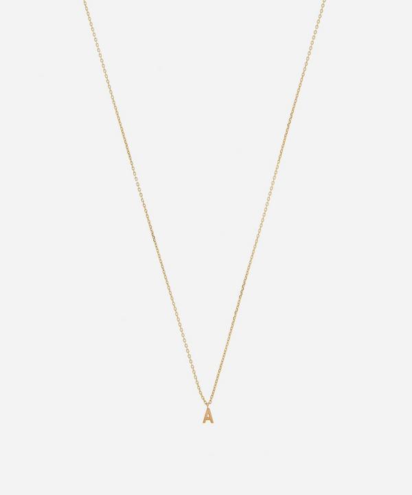 AURUM + GREY - Gold A Initial Pendant Necklace