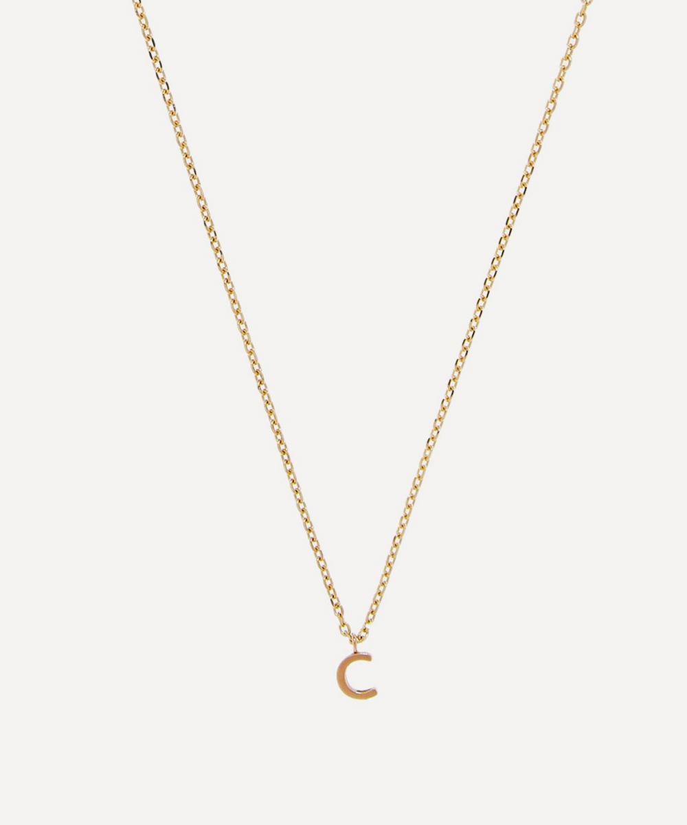 AURUM + GREY - Gold C Initial Pendant Necklace