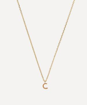 Gold C Initial Pendant Necklace