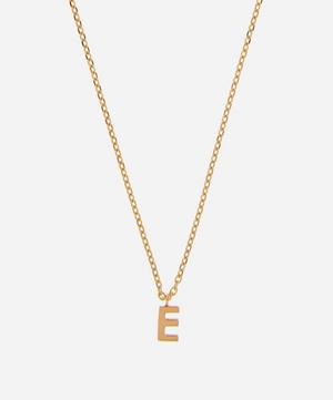 Gold E Initial Pendant Necklace
