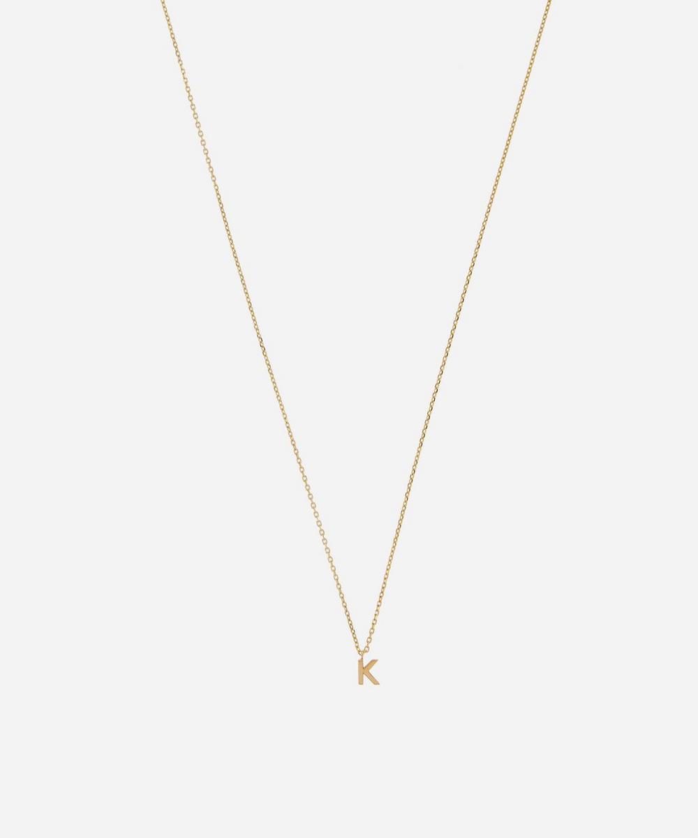 AURUM + GREY - Gold K Initial Pendant Necklace