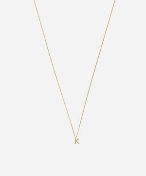 Gold K Initial Pendant Necklace