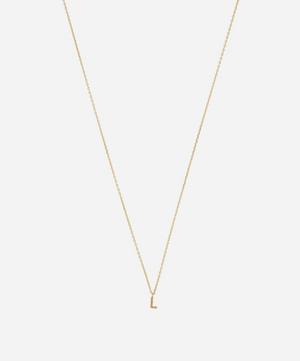 Gold L Initial Pendant Necklace