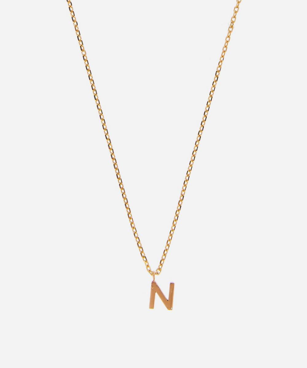 AURUM + GREY - Gold N Initial Pendant Necklace