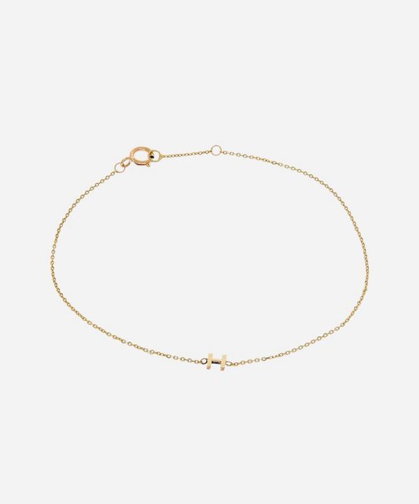 AURUM + GREY - Gold H Initial Bracelet