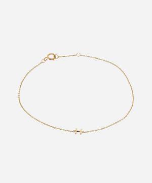 Gold H Initial Bracelet