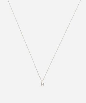 Gold H Diamond Initial Pendant Necklace