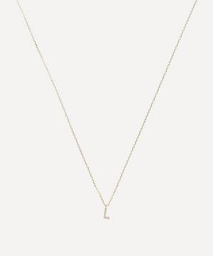 Gold L Diamond Initial Pendant Necklace