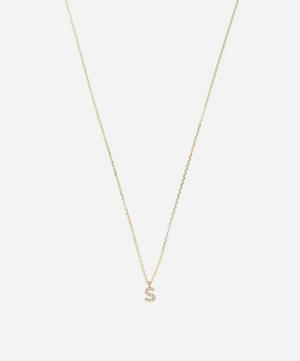 Gold S Diamond Initial Pendant Necklace