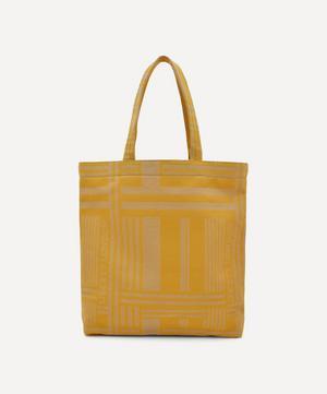 Pocket Jacquard Building Tote Bag