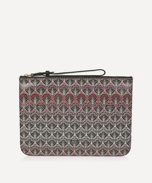 Iphis Sunset Canvas Large Clutch Pouch