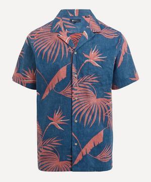 Red Palm Short-Sleeve Shirt
