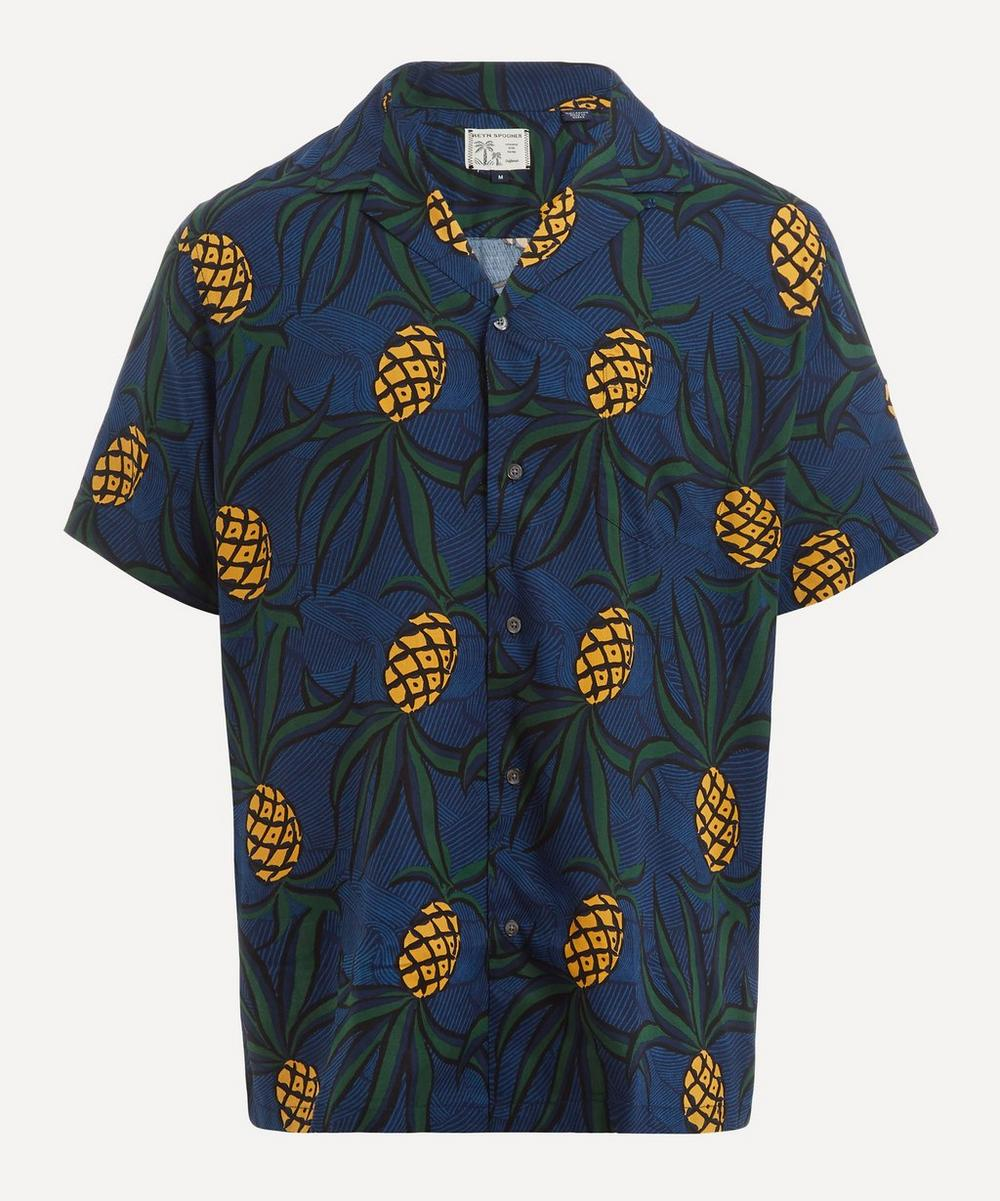 Reyn Spooner - Whacky Pineapple Print Camp Collar Shirt