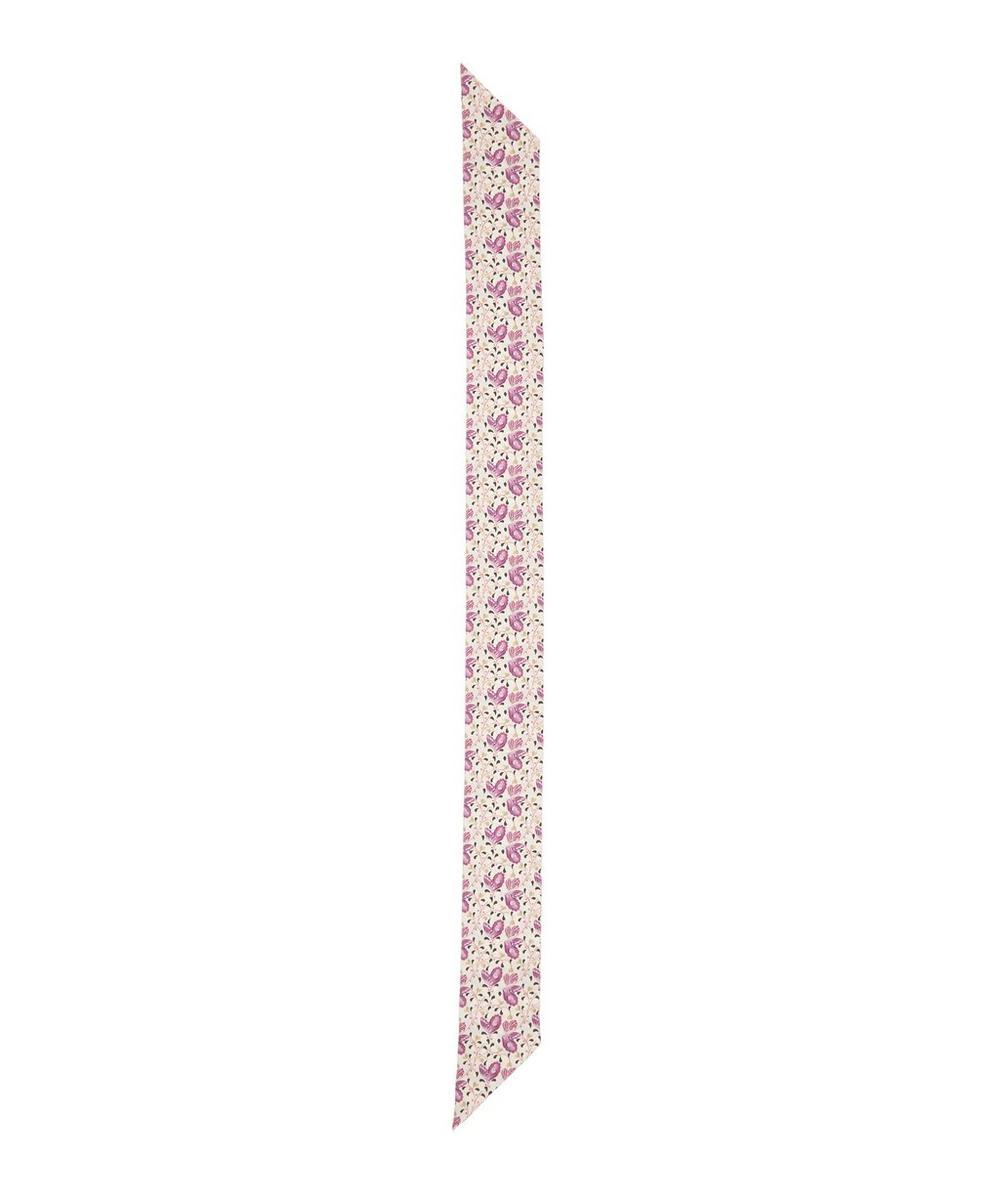 Liberty - Coralie 140 x 10cm Silk Twill Twilly Scarf