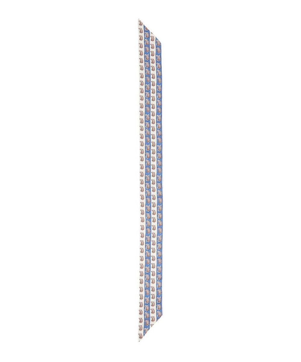 Liberty - Dina Stripe 140 x 10cm Silk Twill Twilly Scarf