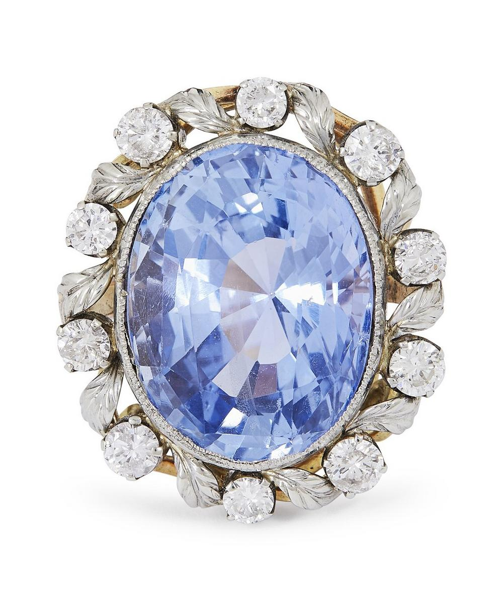 Kojis - Gold Sapphire and Diamond Cluster Ring