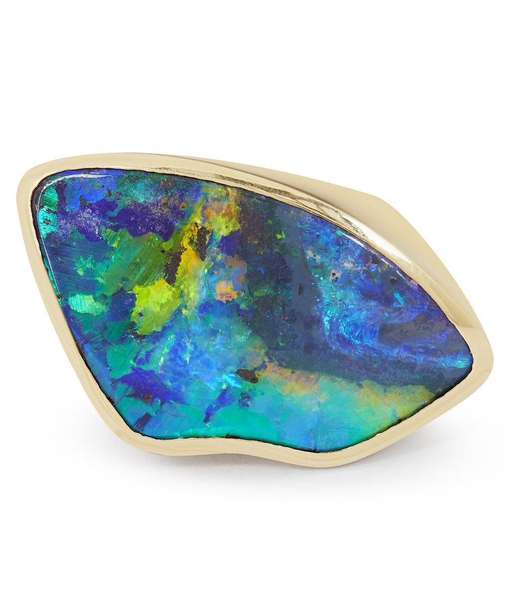 Kojis - Gold Black Opal Ring