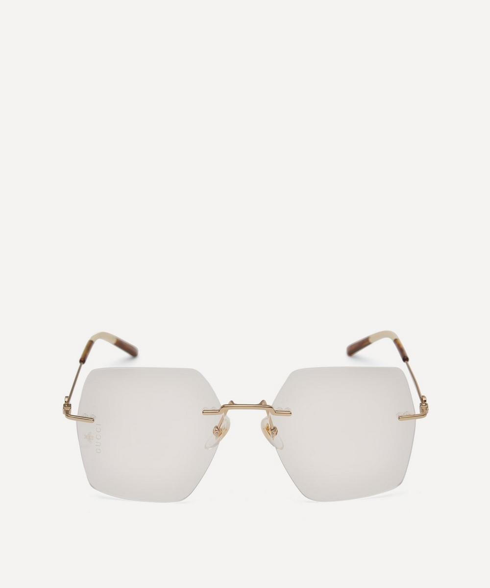 Gucci - Rimless Square-Frame Metal Glasses