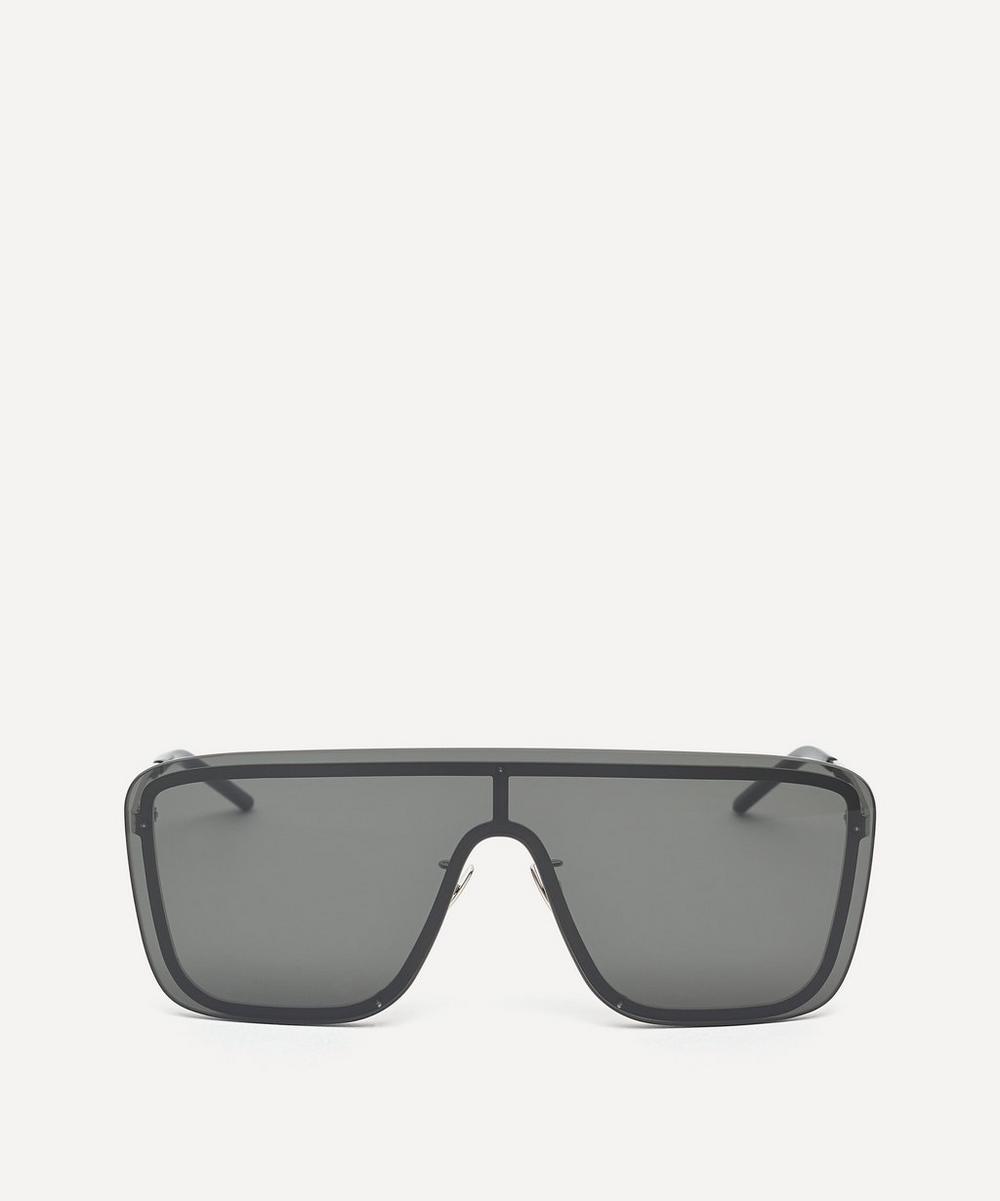 Saint Laurent - Flat Top Metal Mask Sunglasses