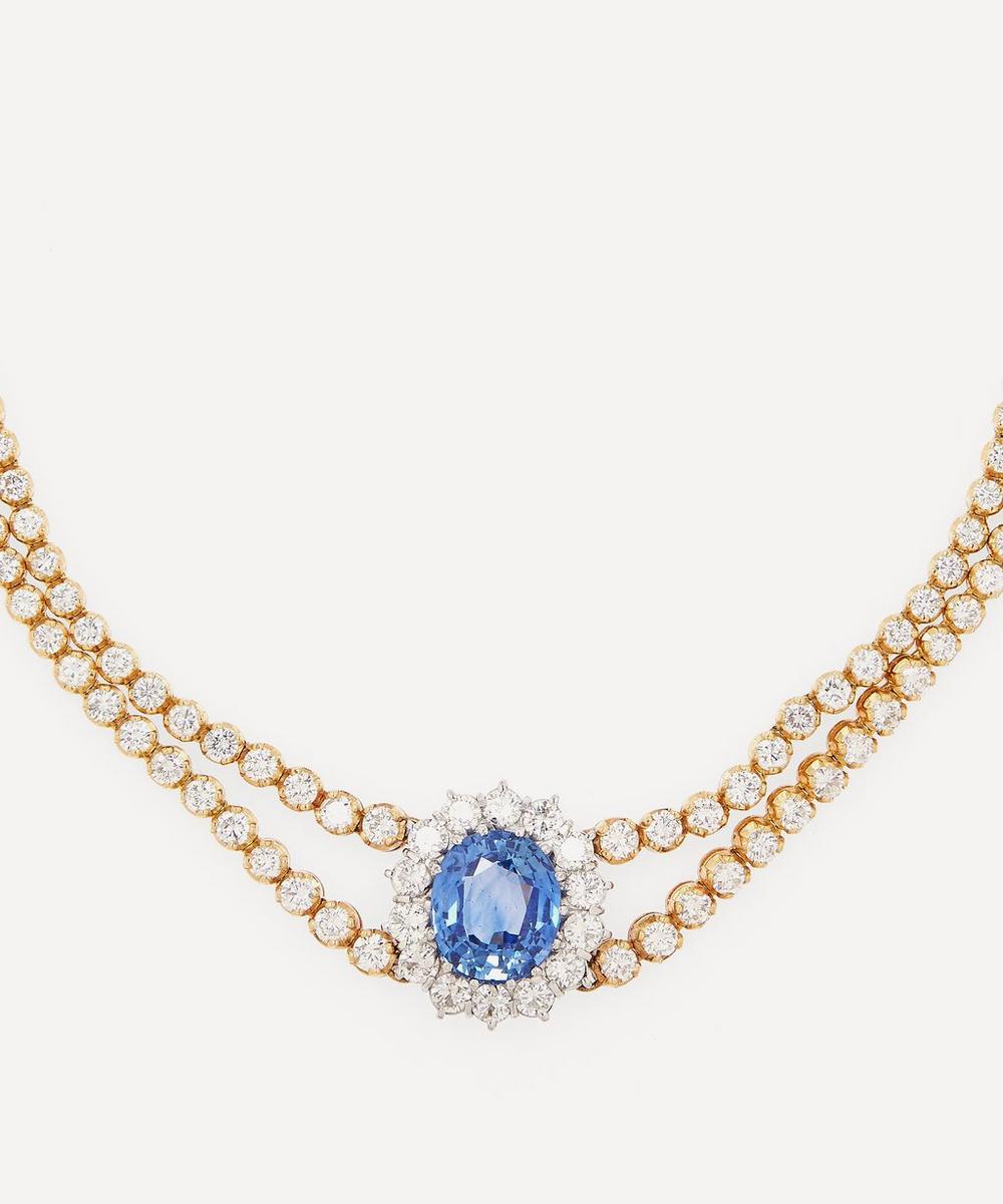 Kojis - Gold Sapphire and Diamond Swag Necklace