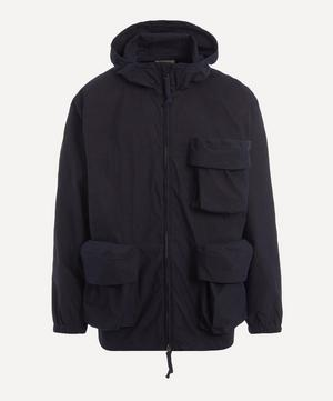Indigo Zip-Up Hooded Parka