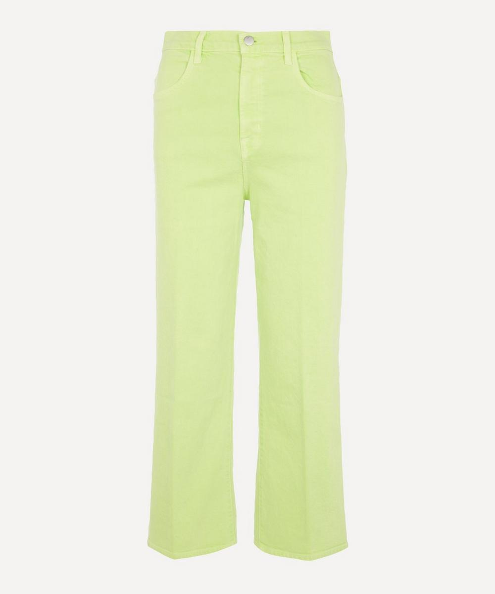 J Brand - Joan High-Rise Cropped Wide Leg Jeans
