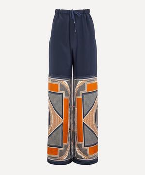 Bauhaus Scarf Print Trousers