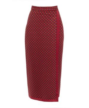 Triangle Jacquard Wrap Skirt