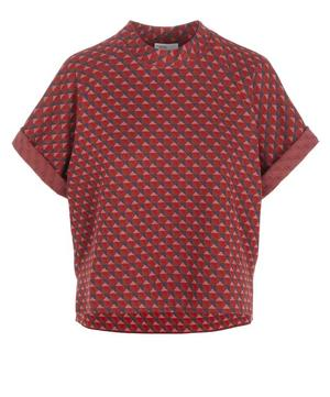 Triangle Jacquard Cocoon Top