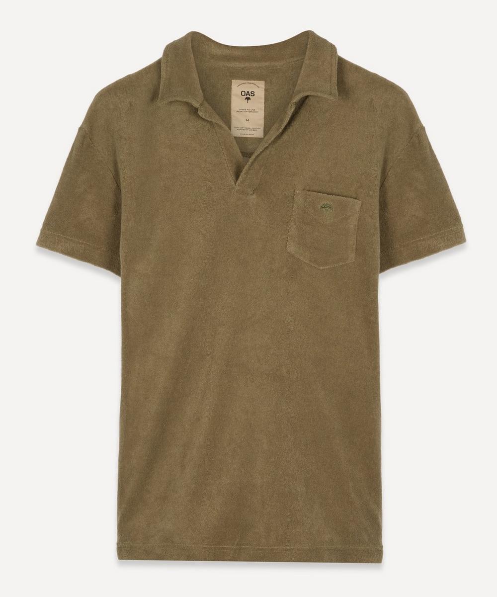 OAS - Terry Cotton Open Collar Polo-Shirt