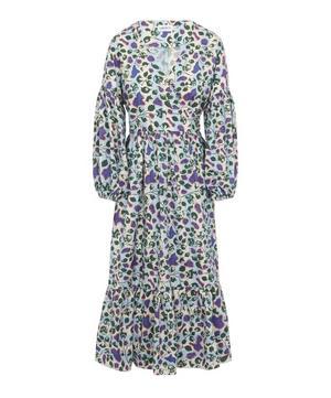 Dorothea Woven Jacquard Wrap Dress