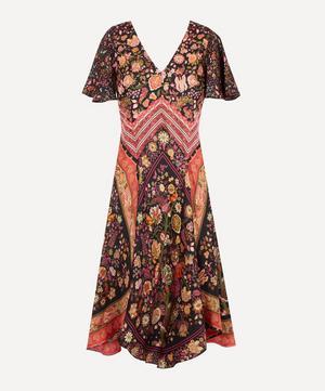 Tree of Life Silk Satin Scarf Dress