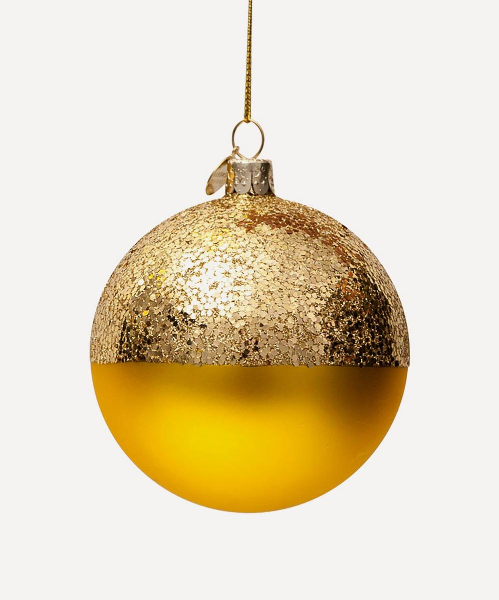 Unspecified - Half Glitter Glass Bauble